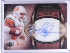 2013 Upper Deck Quantum Signature Patch Barry Sanders autograph #D06/30 *68037
