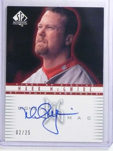 2002 Sp Authentic First Signed Big Mac Mark Mcgwire autograph auto #D2/25 *68049
