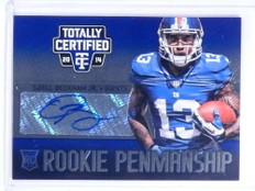 2014 Totally Certified Penmanship Blue Odell Beckham Jr. autograph rc /25 *68058