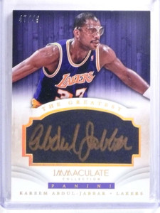 2013-14 Immaculate The Greatest Kareem Abdul-Jabbar autograph #D47/49 *68064