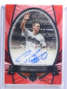 2017 Topps Tribute To The Moment red Craig Biggio autograph auto #D09/10 *68088