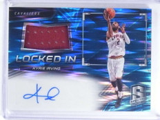 2016-17 Spectra Prizm Locked In Kyrie Irving autograph auto jersey #/99 *68094
