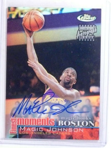 2000-01 Topps Finest Moments Magic Johnson autograph auto #FM-MJ *68099