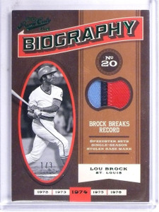 2016 Panini Prime Cuts Biography Green Lou Brock Patch #D1/3 #BIOLB *60403