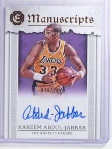 2016-17 Panini Excaliber Manuscripts Kareem Abdul-Jabbar autograph #/149 *68104