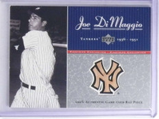 2001 Upper Deck Pinstripe Exclusive Joe Dimaggio bat #D20/100 #JD-B4 *68113