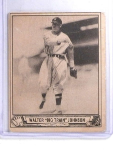 1940 Playball Walter Johnson #120 VG *68119