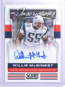 2017 Score Inscriptions Willie Mcginest autograph auto #D05/10 #23 *68162