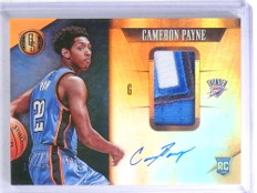 2015-16 Gold Standard Caemeron Payne autograph 3 color patch rc #D12/25 *68181