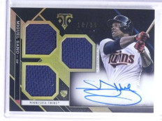 2016 Topps Triple Threads Miguel Sano autograph auto jersey rc #D10/35 *68184