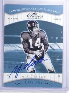 2001 Donruss Classics Significant Sigs Y.A. Tittle autograph auto #158 *68187