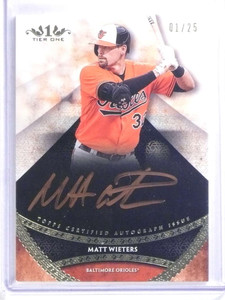 2017 Topps Tier One Copper Matt Wieters autograph auto #D01/25  *68225