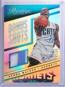 2014-15 Panini Prestige Bonus Shots Kemba Walker 2 color patch #D09/10 *68275