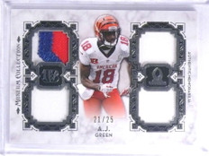 2013 Topps Museum Pro Bowl A.J. Green quad patch jersey #D21/25  *68316