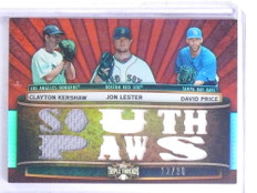 2011 Topps Triple Threads Clayton Kershaw Lester Price jersey #D12/36 *68318