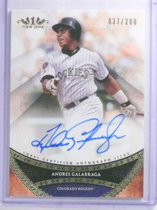 2017 Topps Tier One Andres Galarraga autograph auto #D37/200 #PPA-AGR *68326