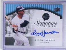 2008 Upper Deck UD Premier Signature Reggie Jackson autograph auto #D/45 *68395