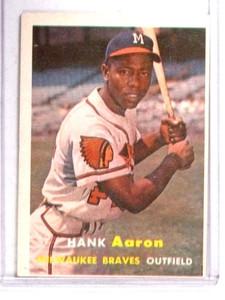 1957 Topps Hank Aaron #20 VG-EX *68358
