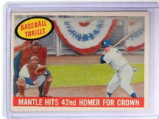 1959 Topps Baseball Thrills Mickey Mantle #461 VG *68396