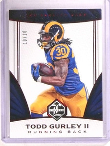 2016 Panini Limited Ruby Spotlight Todd Gurley #D10/10 #77 *68461