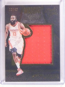 2015-16 Panini Black Gold Massive Materials James Harden jersey #D19/49 *68477