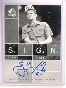 2002 Sp Authentic Sign Of THE Times Jesper Parnevik autograph auto *68505