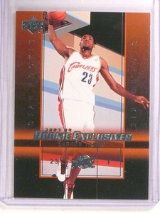 2003-04 Upper Deck Rookie Exclusives Lebron James rc #1 *68615