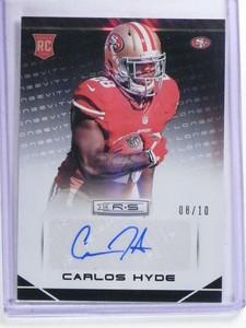 2014 Panini Rookies Stars Carlos Hyde autograph auto rc rookie #D06/10 *68627