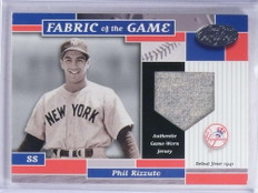 2002 Leaf Certified Fabric Of The Game Phil Rizzuto jersey #D30/41 #FG27 *68642