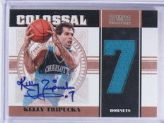 2010-11 National Treasures Colossal Kelly Tripucka autograph jersey #D/18 *68712