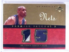 2007-08 UD Premier Patches 2 Vince Carter dual patch jersey #D07/25 *68716