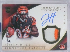 2016 Panini Honors Immaculate Buyback Jeremy Hill auto patch rc #D1/2 *68738