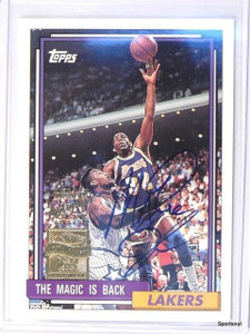2000-01 Topps Magic Johnson Commorative Reprints autograph auto #6 of 7 *42583