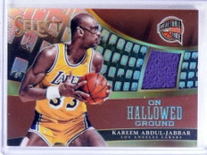 2014-15 Select On Hallowed Ground Kareem Abdul-Jabbar jersey #D05/49 *68763