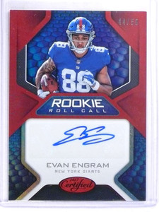 2017 Certified Rookie Roll Call Evan Engram autograph auto rc #D44/50 *68796
