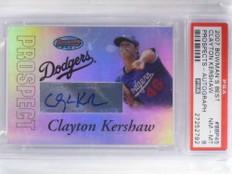 2007 Bowman's Best Clayton Kershaw autograph auto rookie PSA 8 NM-MT *68818