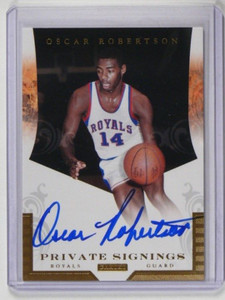 11-12 Panini Private Signings Oscar Robertson auto autograph #PS-OR *36325