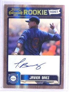 2011 Playoff Contenders Javier Baez autograph auto rc rookie #RT13 *68906