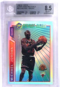 1996-97 Topps Super Team Refractor NBA Finals Michael Jordan #M14 BGS 8.5 *68823