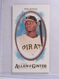 2017 Topps Allen Ginter Brooklyn Back  Gregory Polanco #D11/25 #188 *68909