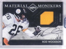 2016 Panini Honors Monikers Rod Woodson autograph auto jersey #D3/3 *68850
