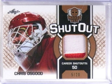 2017 Leaf Masked Men Shut Out Chris Osgood 2 color patch #D5/20 *68960