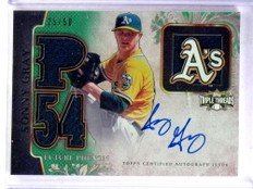 2014 Topps Triple Threads Future Sonny Gray autograph auto jersey #D25/50 *69072
