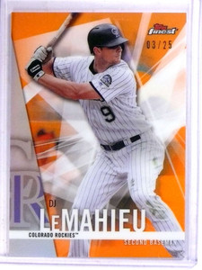 2017 Topps Finest Orange Refractor DJ Lemahieu #D03/25 #37 *69038