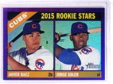 2015 Topps Heritage Chrome Purple Javier Baez & Jorge Soler rc #139 *69100
