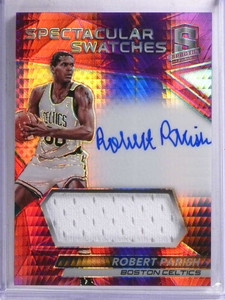 2016-17 Spectra Spectacular Swatches Robert Parish autograph jersey #/49 *68981