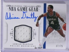 2014-15 National Treasures Game Gear Adrian Dantley autograph jersey /75 *69020