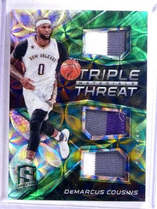 2016-17 Panini Spectra Triple Threat Demarcus Cousins 3clr patch #D03/25 *68991