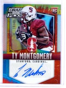 2015 Panini Prizm Draft Picks Tie Dye Ty Montgomery autograph auto rc /49 *69081