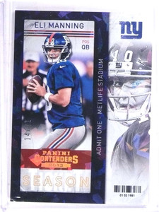 2013 Panini Conteders Cracked Ice Eli Manning #D14/21 #49 *69048